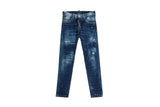 Dsquared2 Dark Front Skater Jeans Blue