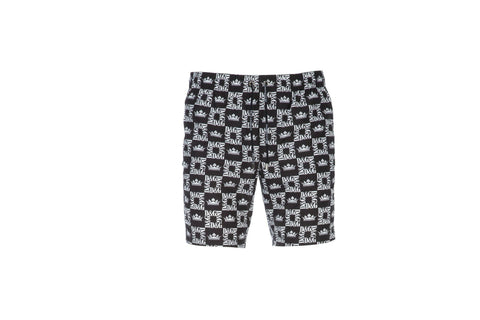 Dolce & Gabbana Monogram Print Swim Shorts Black