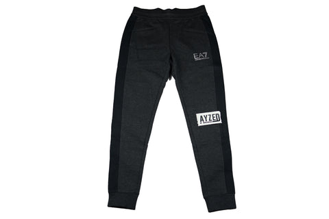 Emporio Armani EA7 Grey And Black Tracksuit Pants