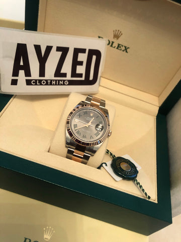 Rolex Datejust II Rose Gold Steel Wimbledon 41 mm