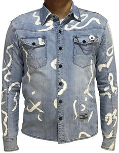 Coded Denim Button Up - Limited Release