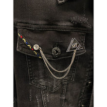 Load image into Gallery viewer, Black Ice Denim Jacket