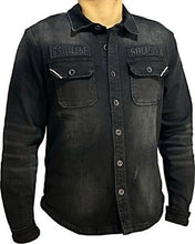 Load image into Gallery viewer, Black Oil - Button Up Denim Shirt