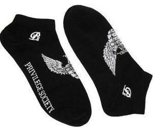 PS Grenade Wings Ankle Socks - Black/White