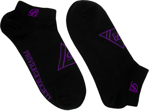 PS Triangle Ankle Socks - Black/Purple