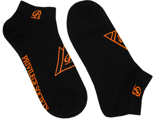PS Triangle Ankle Socks - Black/Orange