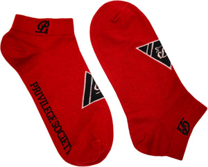 PS Triangle Ankle Socks - Red/Black