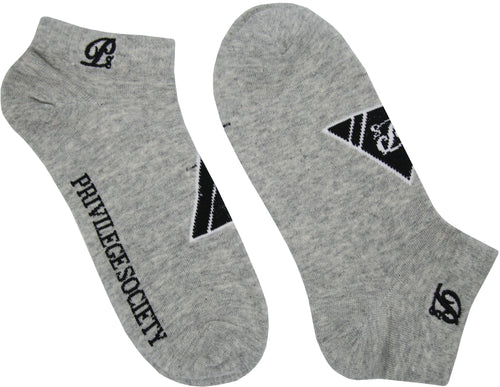 PS Triangle Ankle Socks - Grey/Black