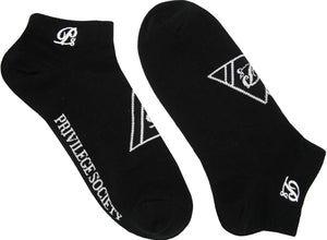 PS Triangle Ankle Socks - Black/White