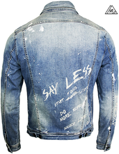 Load image into Gallery viewer, Crypto Denim Jacket