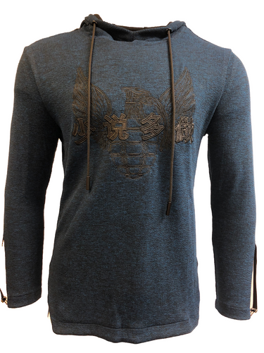 Military Wings Pullover Hoodie Blue