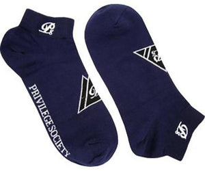 PS Triangle Ankle Socks - Navy/White