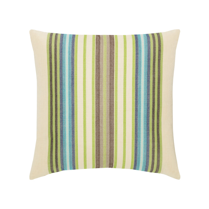 "20"" x 20"" Peridot Multi Stripe pillow by Elaine Smith 
