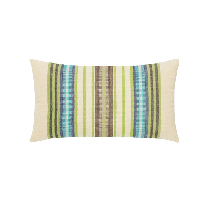 "12"" x 20"" Peridot Multi Stripe lumbar pillow by Elaine Smith 