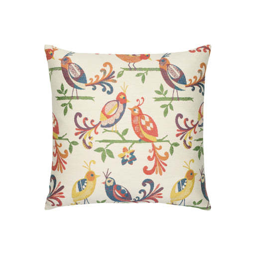 "18"" x 18"" Lovebirds pillow by Elaine Smith 