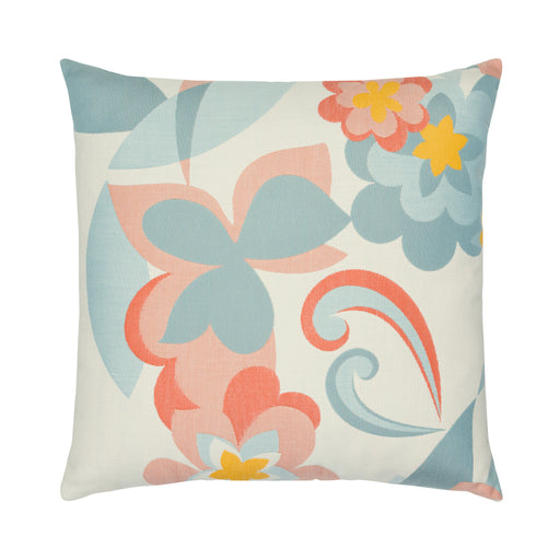 "22"" x 22"" Floral Pop pillow by Elaine Smith 