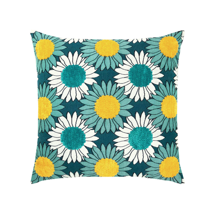 "20"" x 20"" Sunflower Bloom pillow by Elaine Smith 