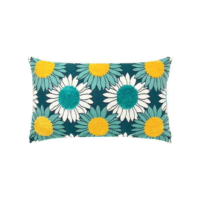 "12"" x 20"" Sunflower Bloom lumbar pillow by Elaine Smith 