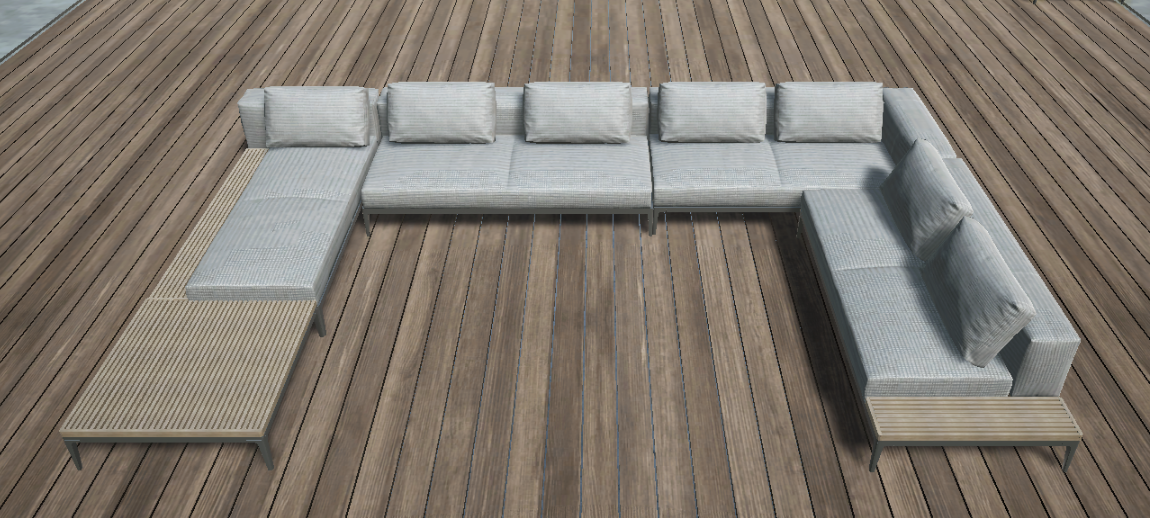 Grid 5-Piece Sectional