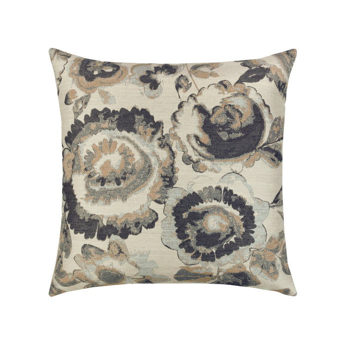 "20"" x 20"" Grigio Floral pillow by Elaine Smith 