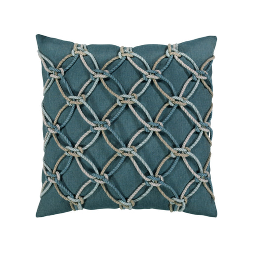 "20"" x 20"" Lagoon Rope pillow by Elaine Smith 