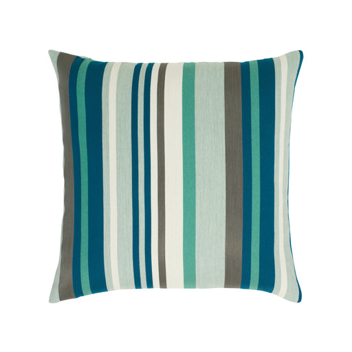"20"" x 20"" Lagoon Stripe pillow by Elaine Smith 