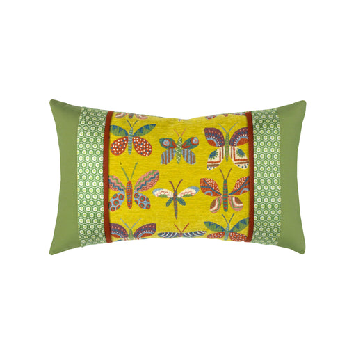 "12"" x 20"" Papillon Dijon lumbar pillow by Elaine Smith 