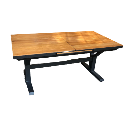 Pop-up Dining Table Teak Top