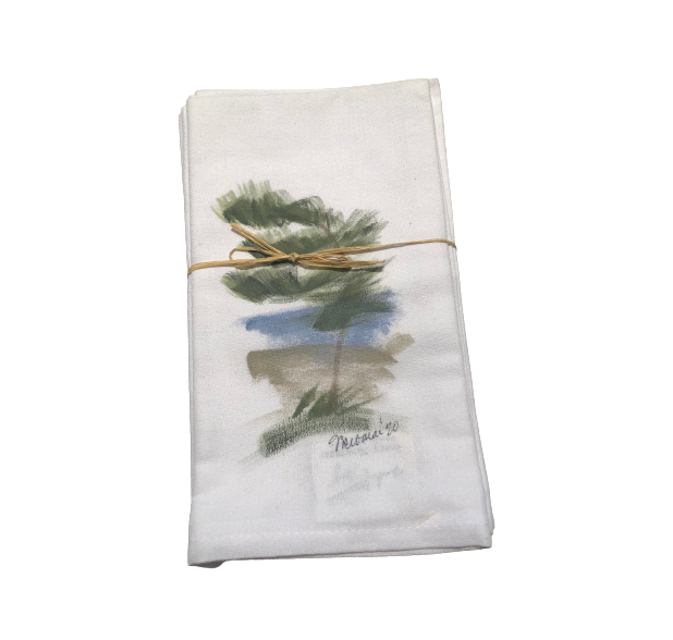 Hand Painted Napkins - Trees