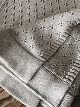 Load image into Gallery viewer, Piper Bug Heritage Knit Blanket - TAUPE