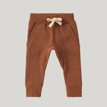 Load image into Gallery viewer, Susukoshi Organic Fleece Jogger - CARAMEL SPECKLED