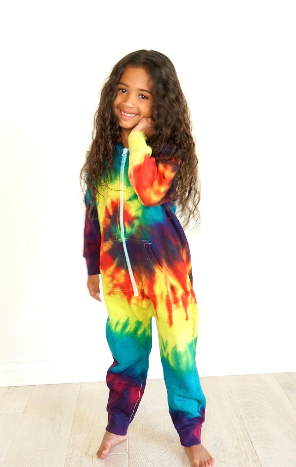 Rose Marron Kids Reactive Rainbow Onesie