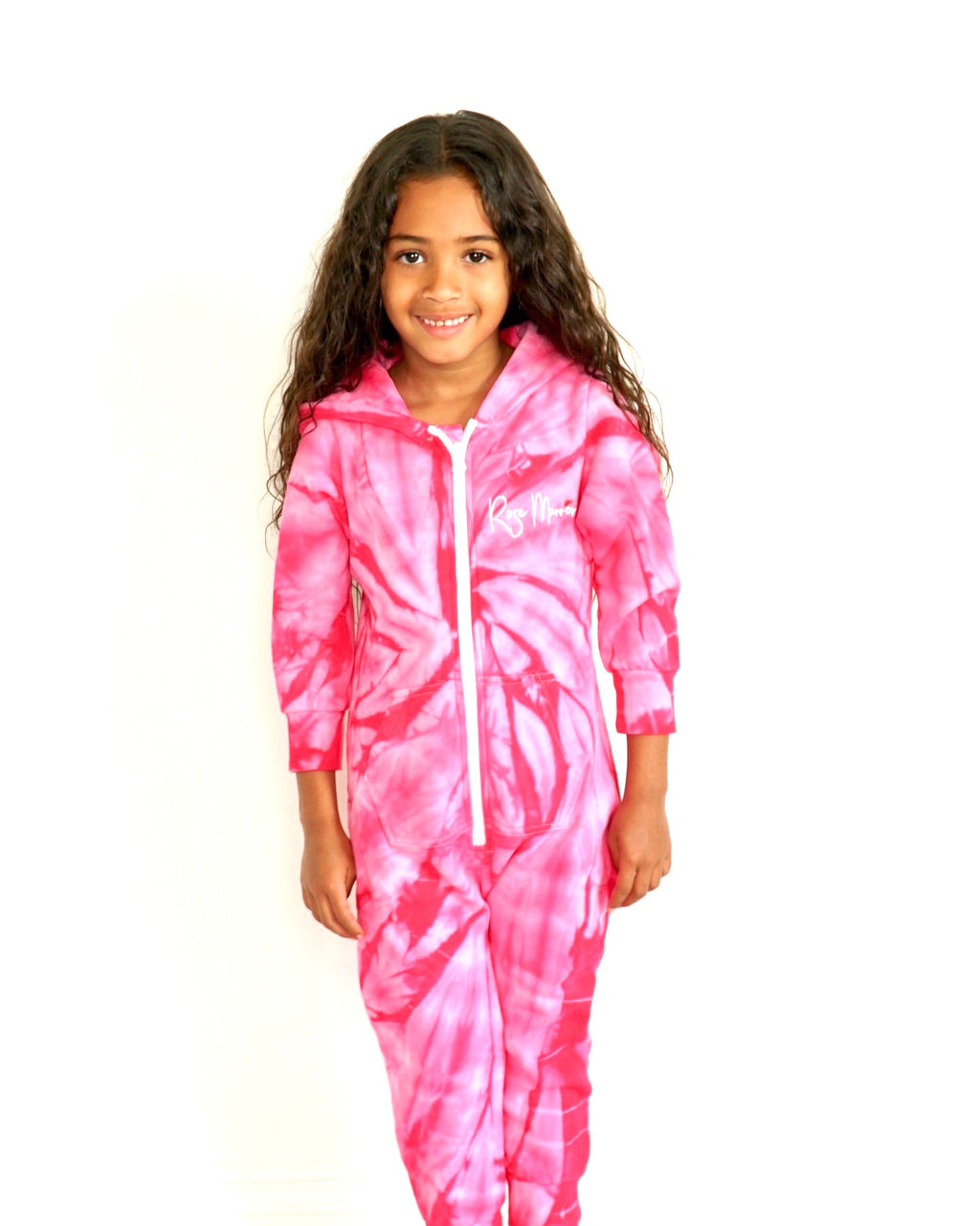 Rose Marron Kids Spider Pink Onesie