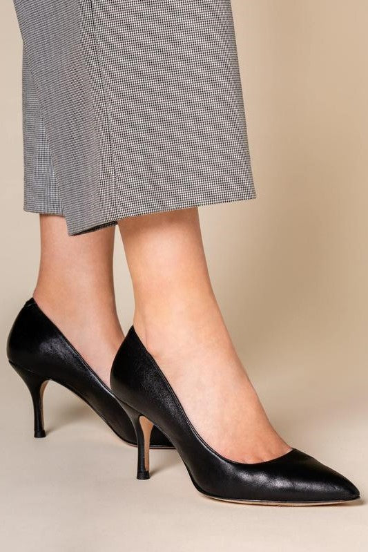 ALLY Shoes | Classic Leather Black Heel
