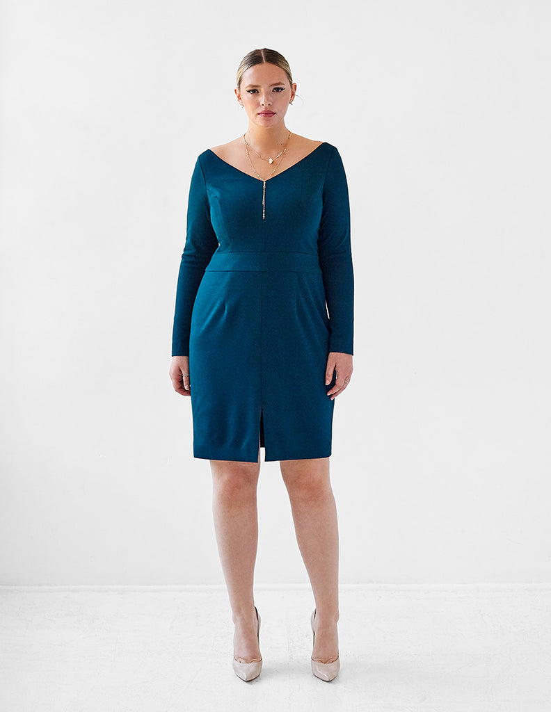 Ava James NYC Review | Chicago Dress in Green | Dresses for Tall Women