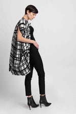 Load image into Gallery viewer, Draped Button Down Shirt Dress in Check