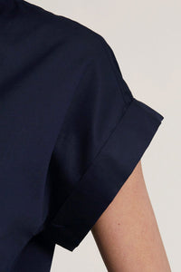 Cap Sleeve Shirt in Midnight in Manhattan