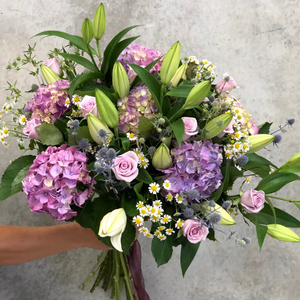 Bouquet - Pinks and Lilacs Flowers