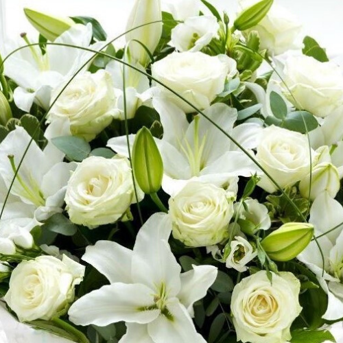 Bouquet - White and Green Flowers