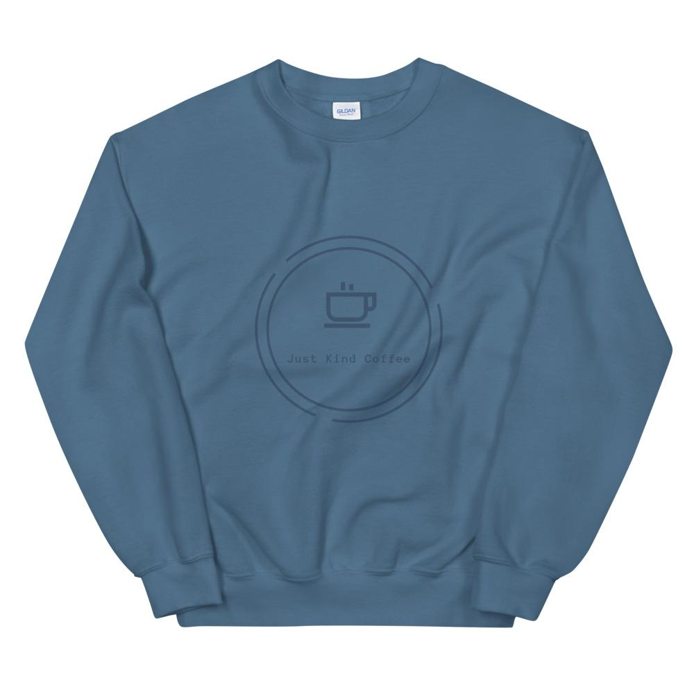 Just Kind Coffee - Crew Neck Sweatshirt Just Kind Coffee Indigo Blue S