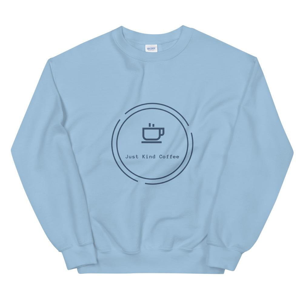 Just Kind Coffee - Crew Neck Sweatshirt Just Kind Coffee Light Blue S