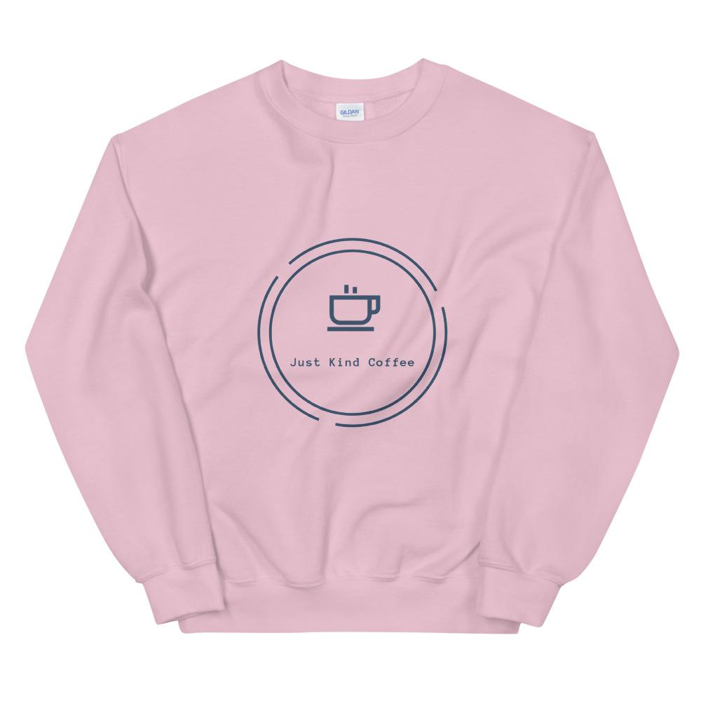 Just Kind Coffee - Crew Neck Sweatshirt Just Kind Coffee Light Pink S