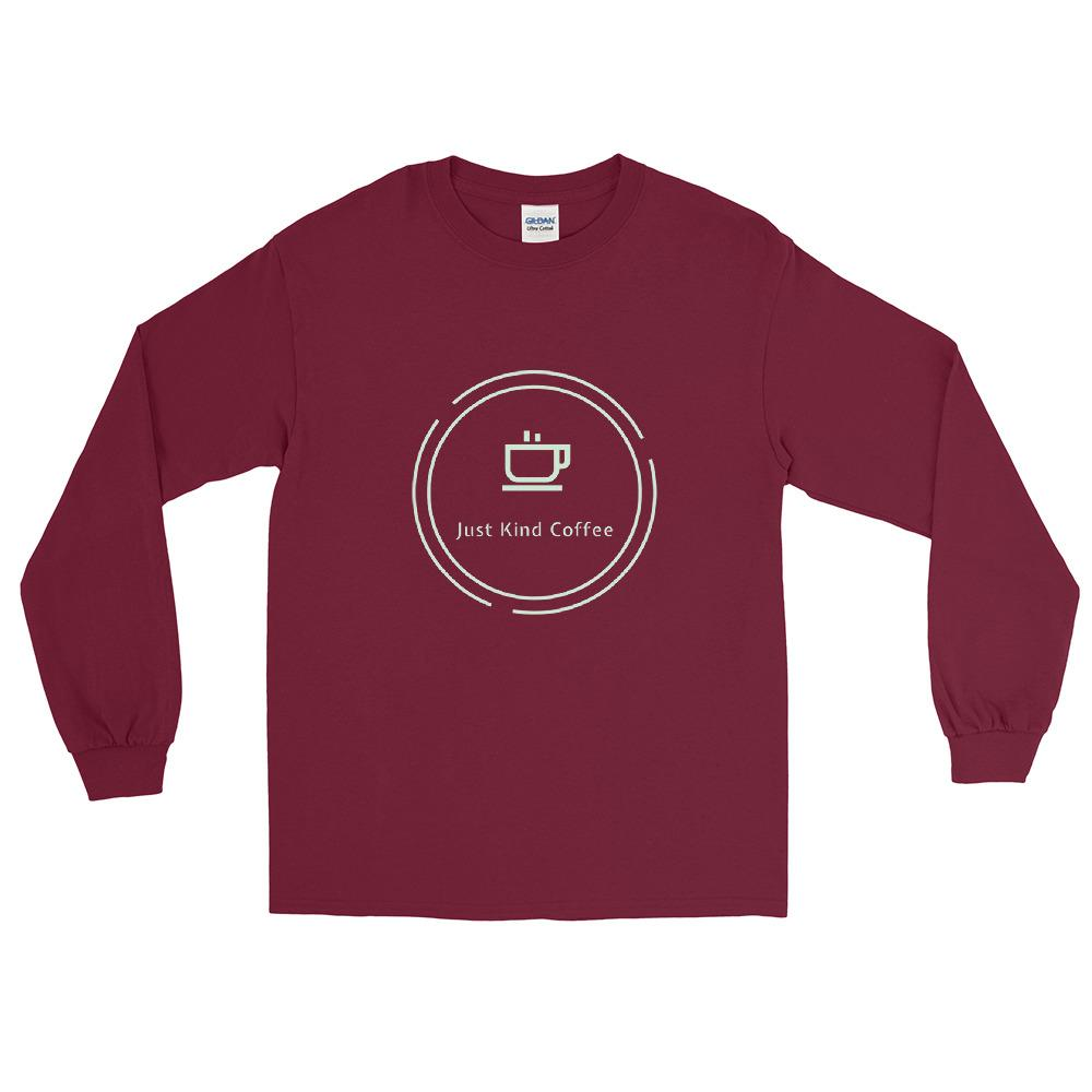 Just Kind Coffee Long Sleeve Shirt Shirts Just Kind Coffee Maroon S