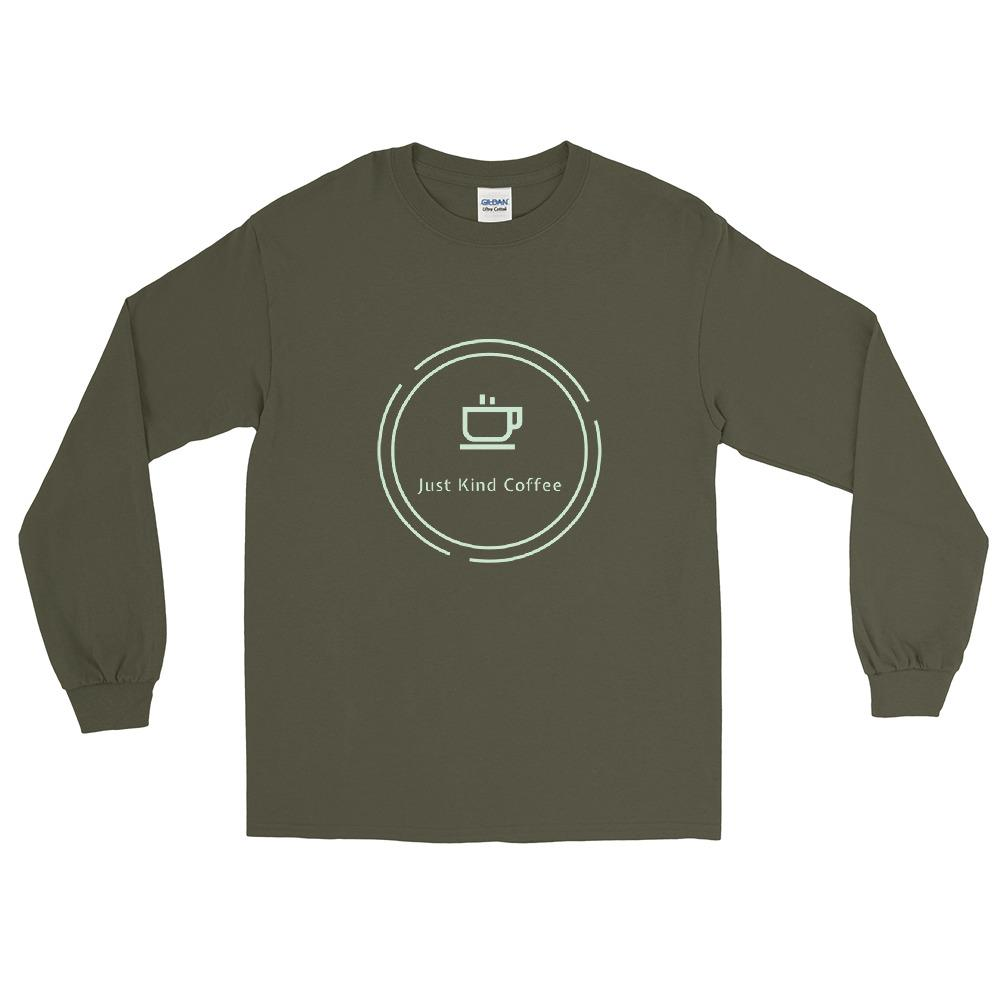 Just Kind Coffee Long Sleeve Shirt Shirts Just Kind Coffee Military Green S