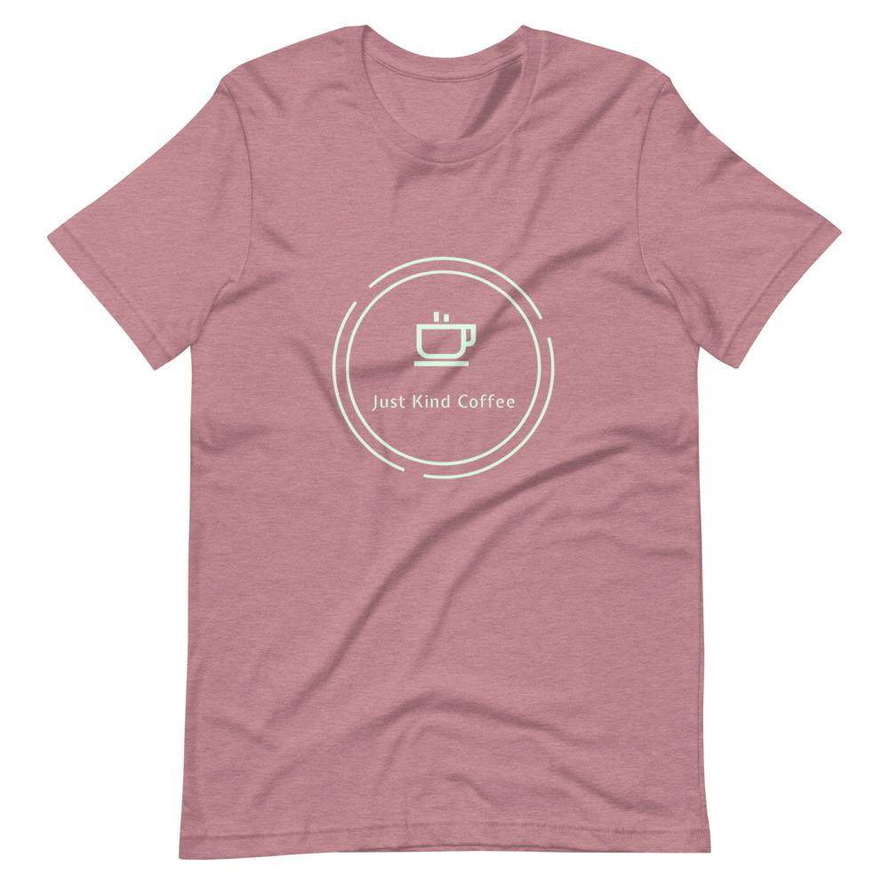 Just Kind Coffee T-Shirt Shirts Just Kind Coffee Heather Orchid S