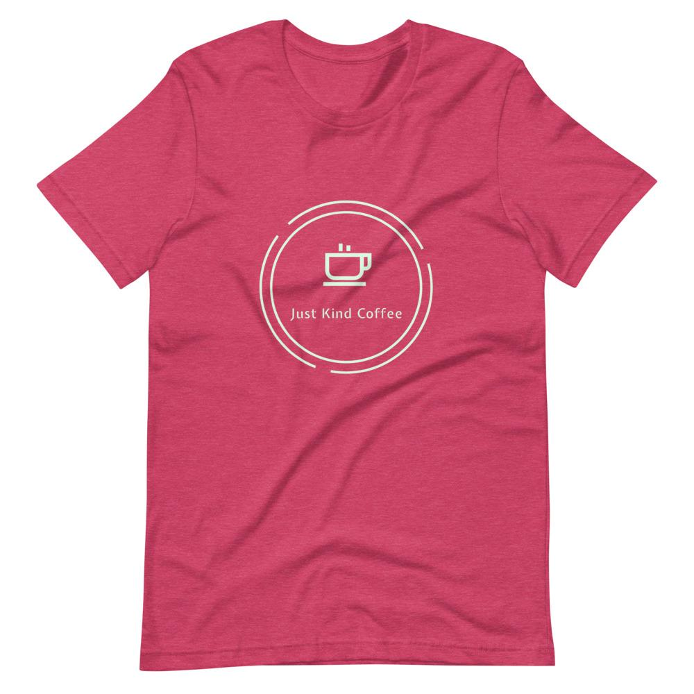 Just Kind Coffee T-Shirt Shirts Just Kind Coffee Heather Raspberry S