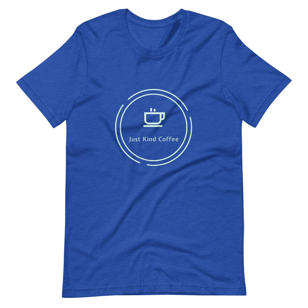 Just Kind Coffee T-Shirt Shirts Just Kind Coffee Heather True Royal S
