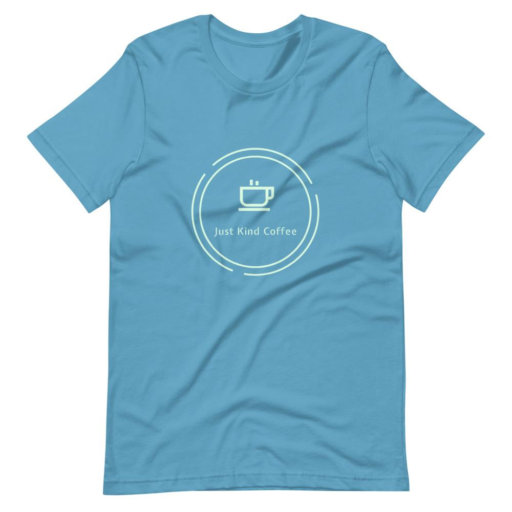 Just Kind Coffee T-Shirt Shirts Just Kind Coffee Ocean Blue S