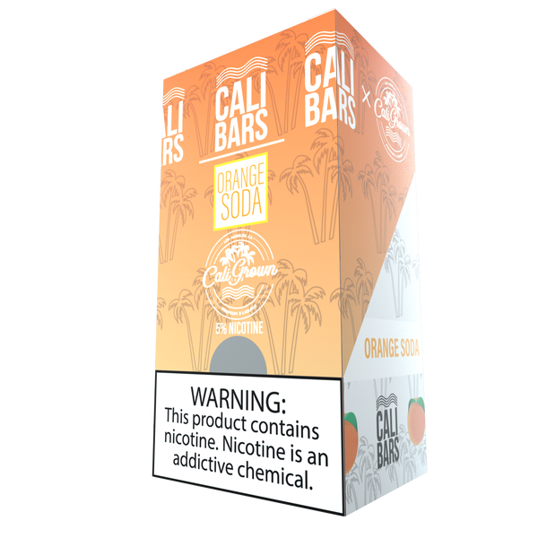 Cali Bar (California Grown) Disposables - Orange Soda (10 Pack Case)