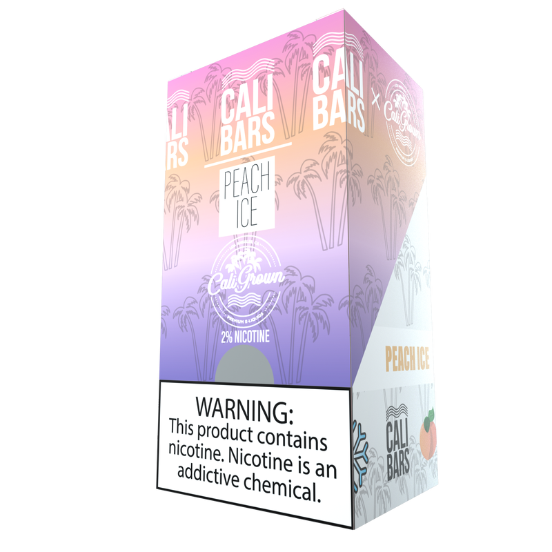 Cali Bar (California Grown) Disposables - Peach Ice (10 Pack Case)